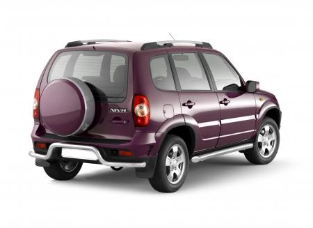 Защита заднего бампера под фаркоп d51мм Chevrolet Niva FL (нерж)