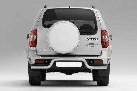 Защита заднего бампера под фаркоп d63мм Chevrolet Niva FL (ППК)