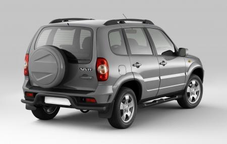 Защита порогов с накладками d76мм Chevrolet Niva FL (ППК)