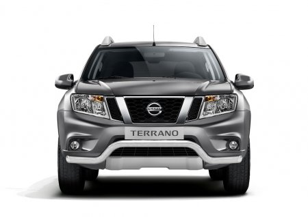 Защита переднего бампера волна d63мм Nissan Terrano 2014