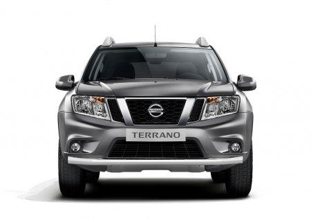 Защита переднего бампера одинарная d63мм Nissan Terrano 2014