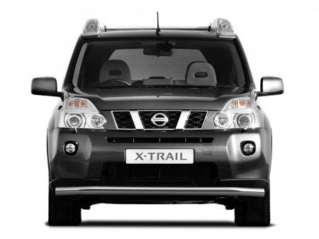 Защита переднего бампера одинарная d63мм Nissan X-Trail (нерж)