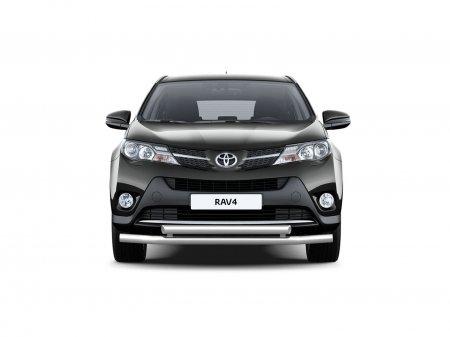 Защита переднего бампера двойная d63/63мм Toyota RAV4 (нерж) 2013