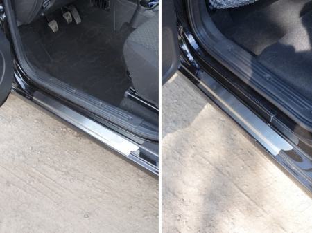 Накладки на пороги (лист шлифованный) Datsun mi-DO 2015