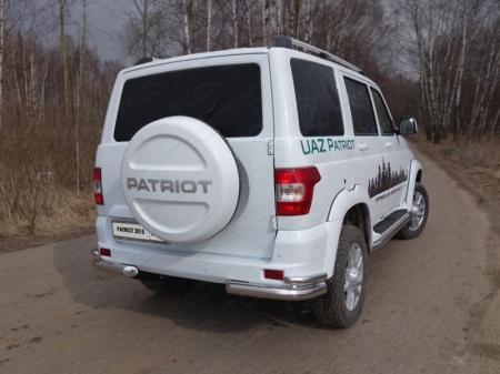 Защита задняя (уголки двойные) 76,1/42,4 мм UAZ Patriot 2015