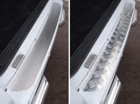 Накладка на задний бампер (лист декоративный) 1.2мм UAZ Patriot 2015