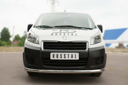 Peugeot Expert 2007- Защита переднего бампера d63 (секции) PEXZ-002117