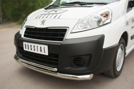 Peugeot Expert 2007- Защита переднего бампера d63 (секции) d42 (дуга) PEXZ-002118