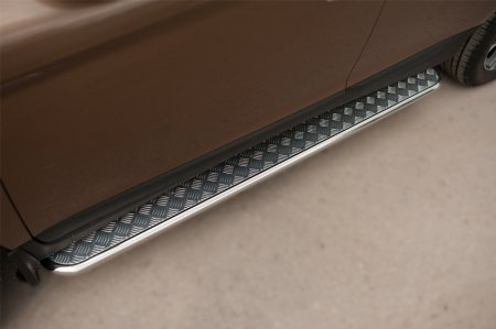 Volvo XC 60 2008-2013 Пороги труба  d42 с листом VXCL-002077