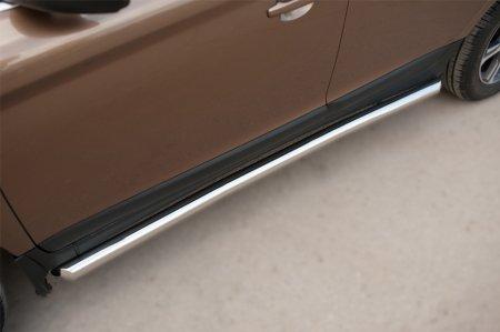 Volvo XC 60 2008-2013 Пороги труба d63 (вариант 1) VXCT-0020781