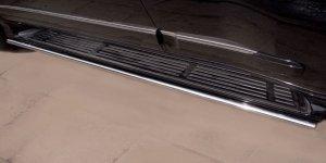 Lexus GX460 пороги труба d42 (вариант 1) GХТ-0008061