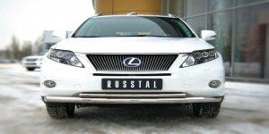 Lexus RX270/350/450 защита переднего  бампера d76/42 LRXZ-000401