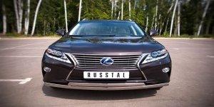 Lexus RX270/350/450 защита переднего  бампера d75х42/75х42 овалы LRXZ-000411