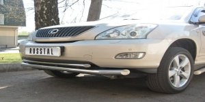 Lexus RX330 защита переднего бампера d63/42 LRZ-000390