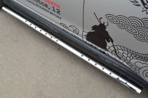 Mitsubishi ASX 2013 Пороги труба  d75*42 овал с проступью MASO-001326