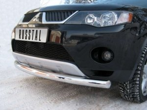 Mitsubishi Outlander защита переднего бампера d76/42 MOZ-000119