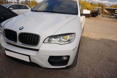 2008 - 2014  BMW X6 E71 Реснички LED ABS пластик Накладки на фары 2 шт.