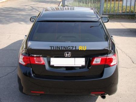 2008 - 2012 Honda Accord 8 Козырек широкий ABS пластик Накладка на заднее стекло 1 шт.