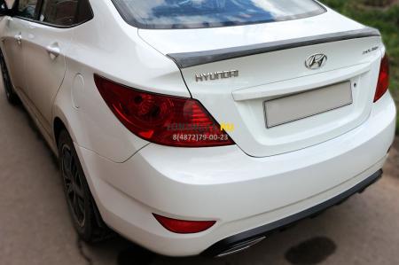2011 -  Hyundai Solaris Лип спойлер ABS пластик Спойлер 1 шт.