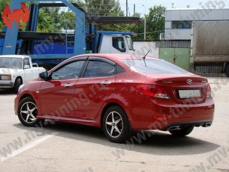 АБС-пластик Пороги Hyundai Solaris/Kia Rio