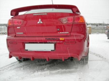 2007 - M Lancer X Накладка на задн.бампер ABS пластик Накладка на задний бампер 1 шт.