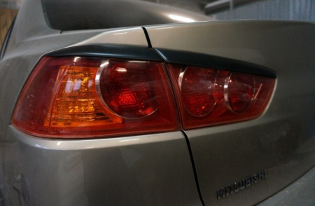2007 -  M Lancer X Реснички на фонари ABS пластик Накладки на фонари 2 шт.