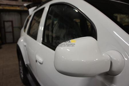 2011 -  Renault Duster Накл.на зеркала (2 шт) ABS пластик Накладки на зеркала из четырех частей 2 шт.