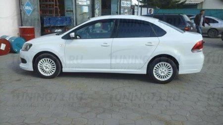 АБС-пластик Пороги VW Polo Sedan