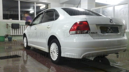 АБС-пластик Юбка заднего бампера VW Polo Sedan