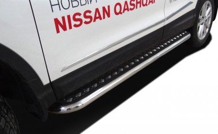 NISSAN   Qashqai 2014   Пороги с накладным листом  60