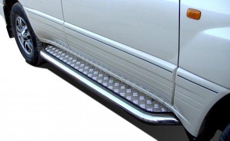 Пороги с накладным листом Lexus LX 470 1998 76