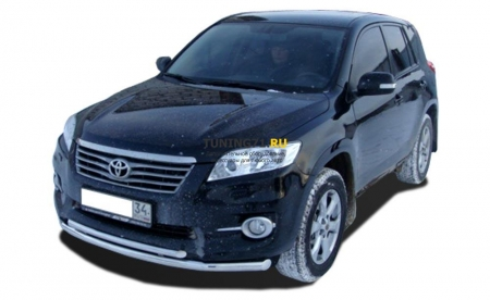 Защита переднего бампера Toyota RAV4 2010 двойная 60/42
