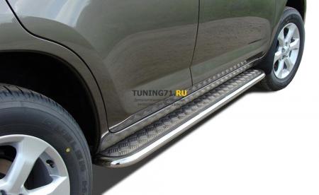Пороги с накладным листом Toyota RAV4 2010 53