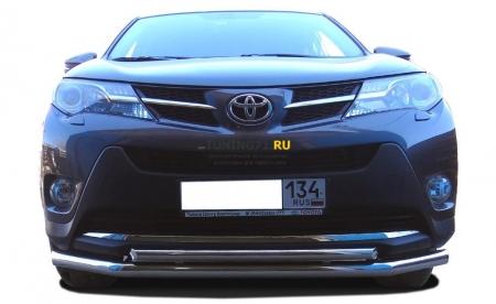 Защита переднего бампера Toyota RAV4 2013 двойная 60/42