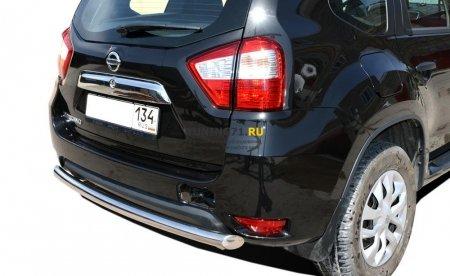 Защита заднего бампера Nissan Terrano 2015 радиус 60