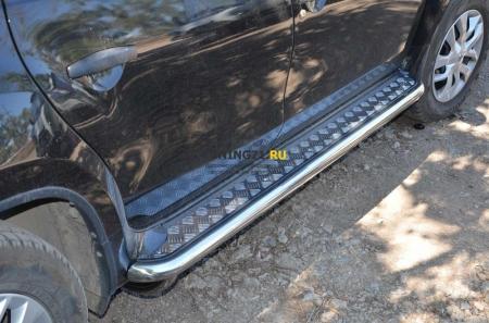 Пороги с накладным листом Nissan Terrano 2015 5