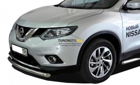 Защита переднего бампера Nissan X-trail 2015 радиус 60
