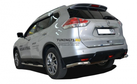 Защита заднего бампера Nissan X-trail 2015 угловая 60