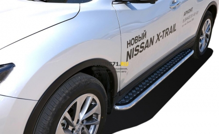 Пороги с накладным листом Nissan X-trail 2015 53