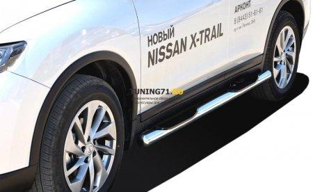 Порог труба с проступью Nissan X-trail 2015 76