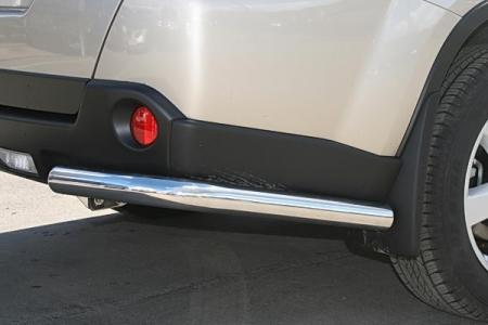 """Nissan X-trail T31 2007-2010г.в.-Защита заднего бампера """"уголки"""" d-60"""