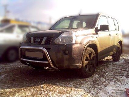 Nissan X-trail T31 2007-2010г.в.-Дуга передняя d-60 с радиусной распоркой