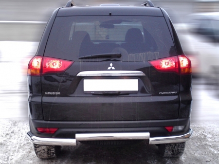 Mitsubishi Pajero Sport 2014-наст.вр-Защита заднего бампера d-76 полноразмерная