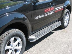 Nissan Pathfinder 4 пороги труба d42 (вариант 1) NNT-0003551