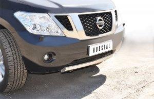 Nissan Patrol 2010 защита переднего бампера  d75х42 PAZ-000786