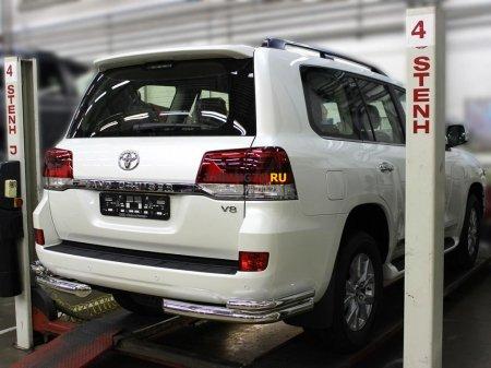 "Защита заднего  бампера  ""уголки"" d-76+53 Toyota Land Cruiser 200 2015-наст.вр."