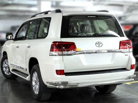 """Защита заднего  бампера  """"волна"""" d-76+53 Toyota Land Cruiser 200 2015-наст.вр."""